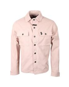 Luke Mens Pink Warden Patch Pocket Shacket