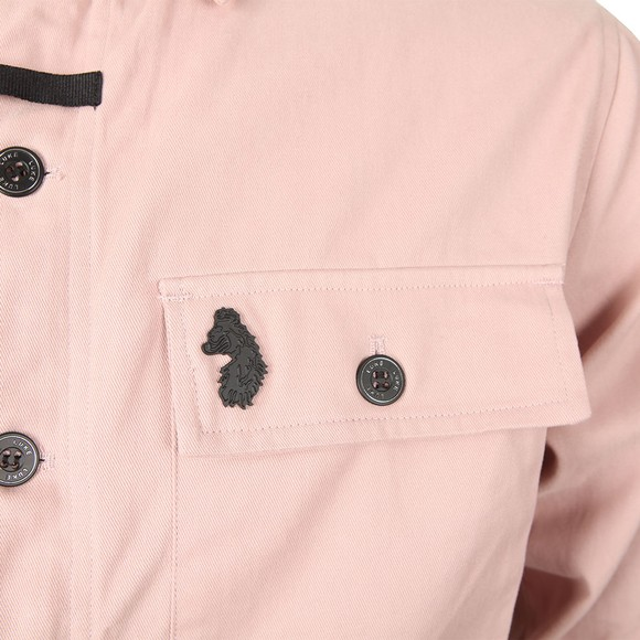Luke 1977 Mens Pink Warden Patch Pocket Shacket main image