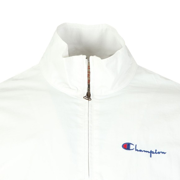 Champion Reverse Weave Mens White Half Zip Jacket main image