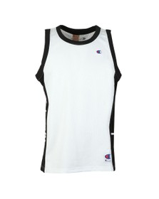 Champion Reverse Weave Mens White Mesh Tank Top