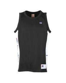 Champion Reverse Weave Mens Black Mesh Tank Top