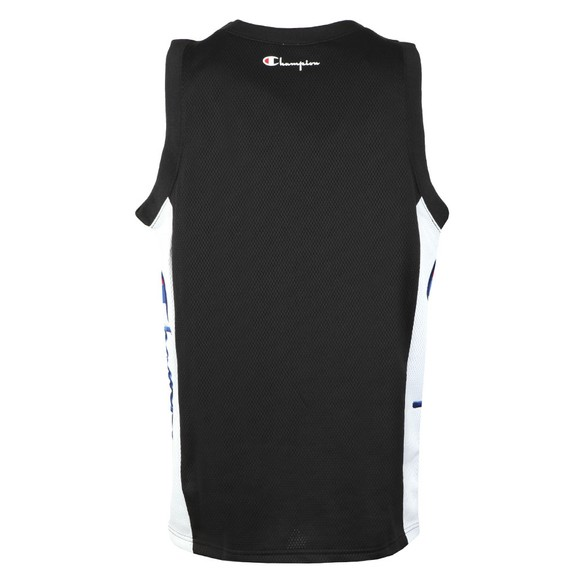 Champion Reverse Weave Mens Black Mesh Tank Top main image
