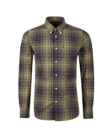 Barbour Lifestyle Mens Green Tartan 1 Tailored Shirt