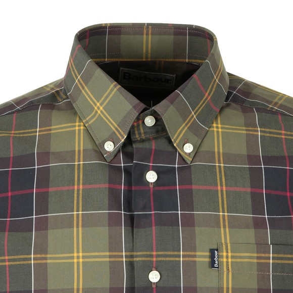 Barbour Lifestyle Mens Green Tartan 1 Tailored Shirt main image