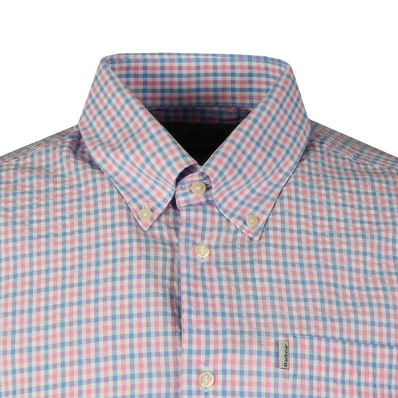 Barbour Lifestyle Mens Pink Seersucker 1 SS Shirt main image