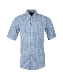 Barbour Lifestyle Mens Blue Seersucker 1 SS Shirt