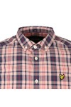 Lyle and Scott Mens Pink Check SS Shirt