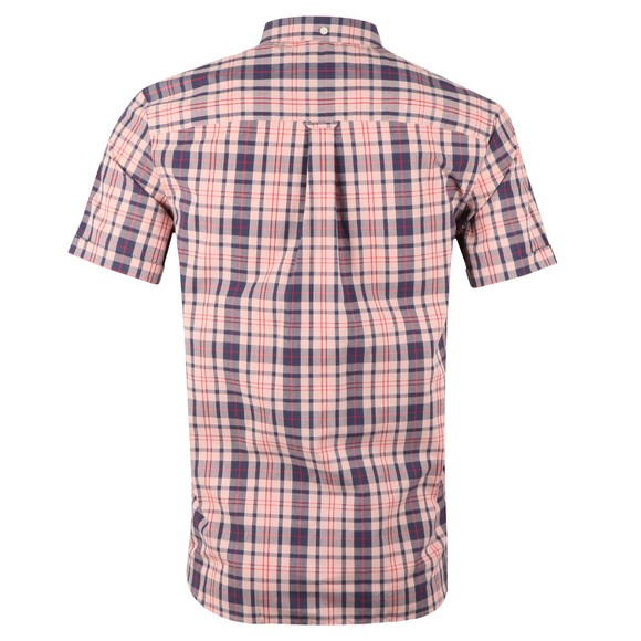 Lyle and Scott Mens Pink Check SS Shirt main image