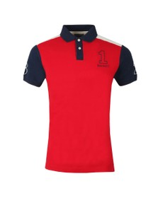Hackett Mens Red Archive 1234 Polo