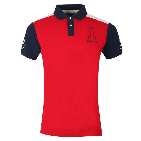 Hackett Mens Red Archive 1234 Polo main image