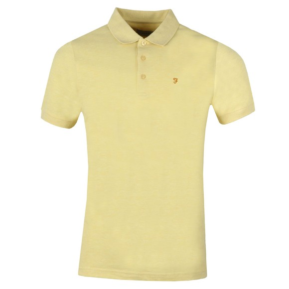 Farah Mens Yellow Blaney Polo Shirt main image