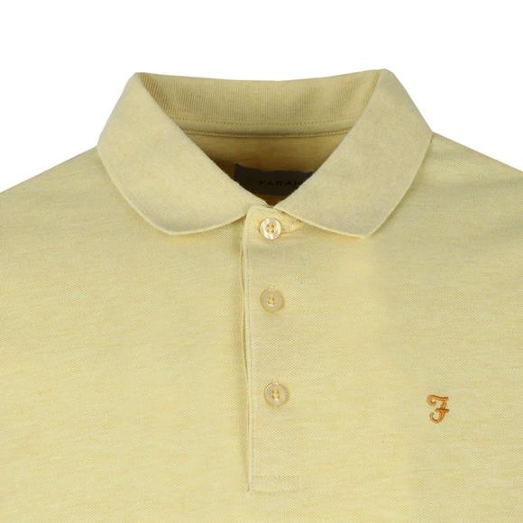 Farah Mens Yellow Blaney Polo Shirt main image