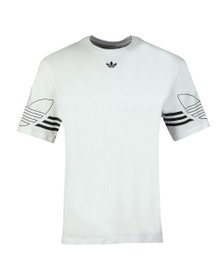 adidas Originals Mens White Outline Tee