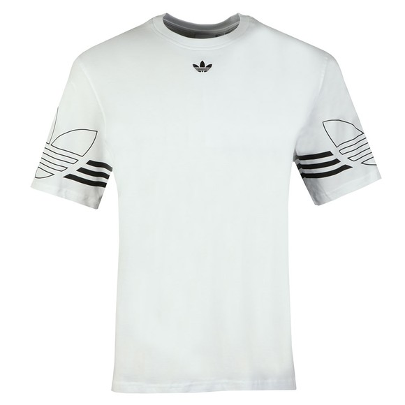 adidas Originals Mens White Outline Tee main image