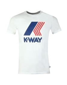 K-Way Mens White Pete Macro Logo T Shirt