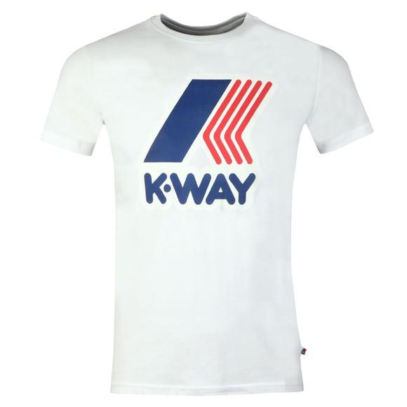 K-Way Mens White Pete Macro Logo T Shirt main image