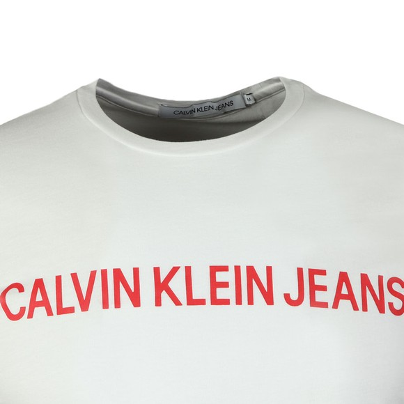 Calvin Klein Jeans Mens White Institutional Tee main image