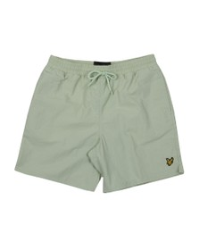 Lyle and Scott Mens Green Plain Swim Short