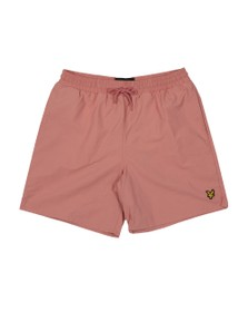 Lyle and Scott Mens Pink Plain Swim Short