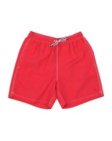 Hackett Mens Red Solid Volley Swim Short