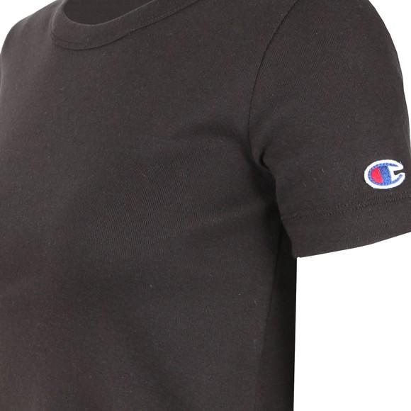 Champion Reverse Weave Womens Black Small Sleeve Logo T Shirt main image