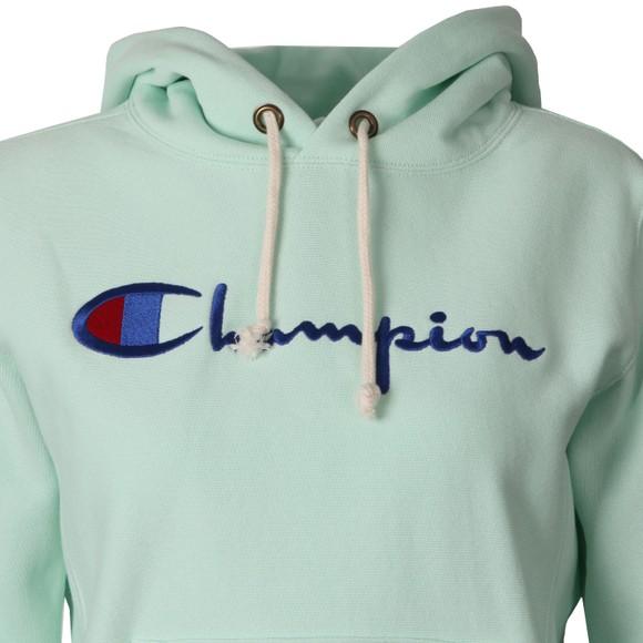 Champion Reverse Weave Womens Green Script Logo Overhead Hoody main image