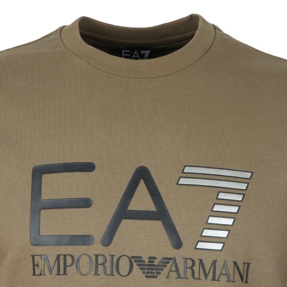EA7 Emporio Armani Mens Green Large Logo Crew Sweatshirt main image