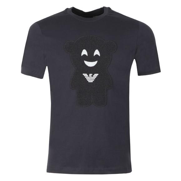 Emporio Armani Mens Blue Face Logo T Shirt main image