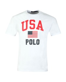 Polo Ralph Lauren Americana Mens White Flag T Shirt