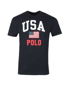 Polo Ralph Lauren Americana Mens Blue Flag T Shirt