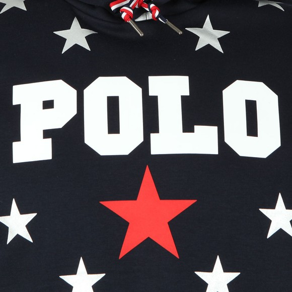 Polo Ralph Lauren Americana Mens Blue Allover Star Hoody main image