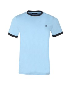 Fred Perry Sportswear Mens Blue Ringer T-Shirt
