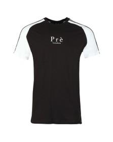 Pre London Mens Black Prince Of Wales Raglan T Shirt