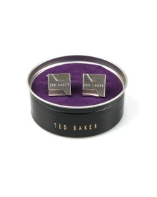 Ted Baker Mens Silver Brushed And Faceted Cufflinks