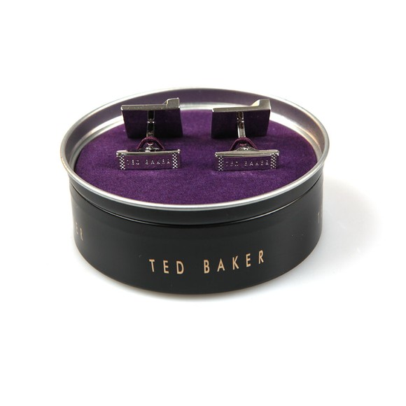 Ted Baker Mens Silver Brushed And Faceted Cufflinks main image