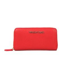 Valentino by Mario Womens Red Divina Zip Around Purse