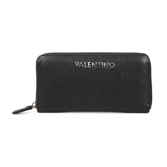 Valentino Bags Womens Black Divina Zip Around Purse