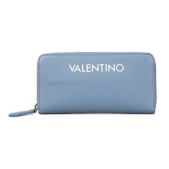 Valentino by Mario Womens Blue Masha Zip Around Purse main image