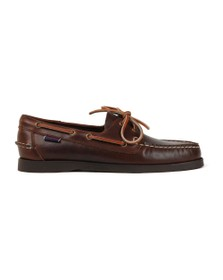 Sebago Mens Brown Docksides FGL Oiled Waxy Boat Shoe