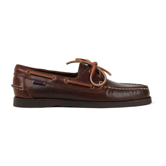 Sebago Mens Brown Docksides FGL Oiled Waxy Boat Shoe main image