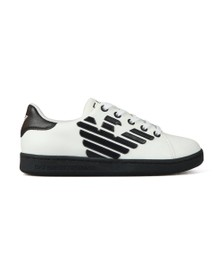 EA7 Emporio Armani Boys White Nappa Thermo Eagle Trainer