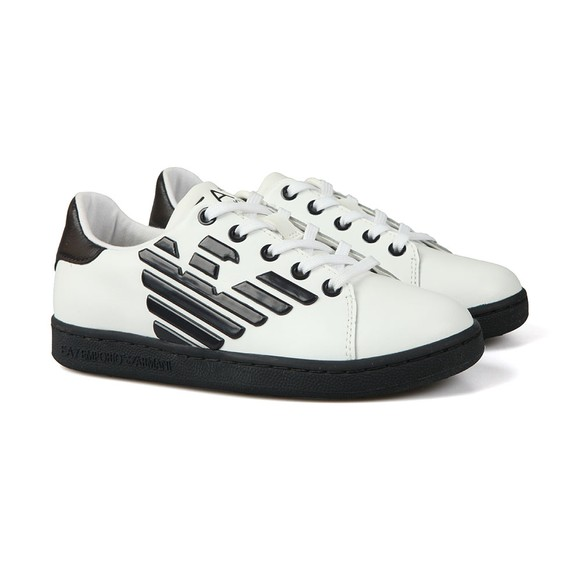EA7 Emporio Armani Boys White Nappa Thermo Eagle Trainer main image