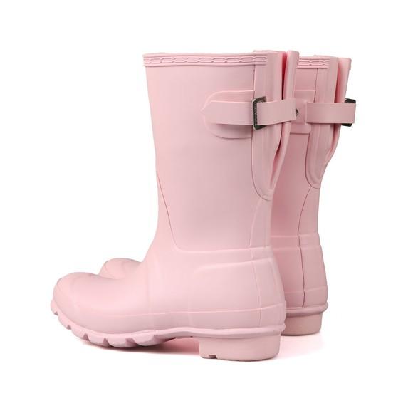Hunter Womens Pink Original Back Adjustable Short Boot main image