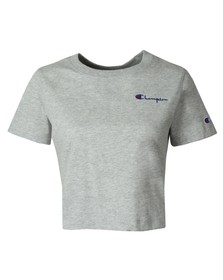 Champion Womens Grey Small Sleeve Logo T Shirt