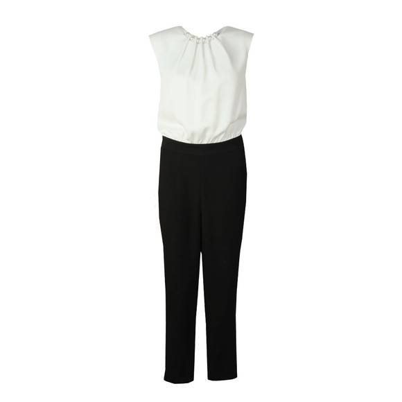 Ted Baker Womens Black Roziee Pearl Neck Detail Jumpsuit main image