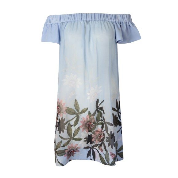 Ted Baker Womens Blue Belriaa Illusion Bardot Cover Up main image