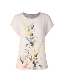 Ted Baker Womens Pink Selmaa Elegant Woven Front Tee