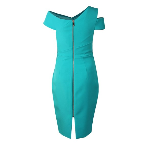 Ted Baker Womens Blue Yandal Asymmetric Bodycon Dress main image
