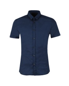 HUGO Mens Blue Empson Short Sleeve Shirt