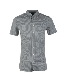 BOSS Mens Blue Casual Magneton Short Sleeve Check Shirt